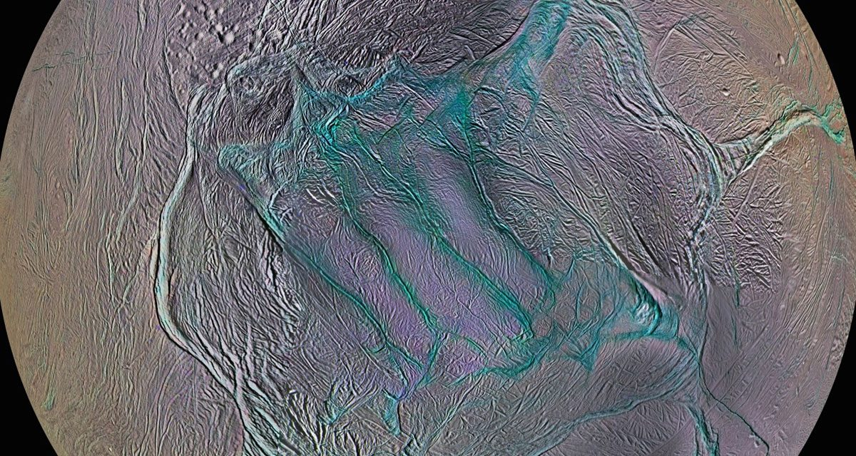 Icy Enceladus's tiger stripes are a window on its watery depths