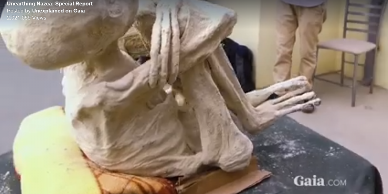 Another three-fingered 'alien' humanoid has supposedly been unearthed in Peru