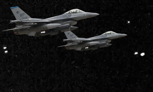 COVERT OPERATION? US military jets 'filmed tailing UFOs' on night vision camera