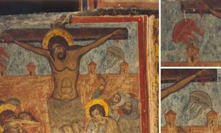 Painting 'proves aliens were present at Christ's crucifixion', UFO fans claim