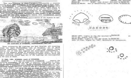Secret UFO sighting dossier hushed
