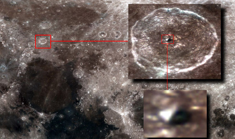 Shock as 'ancient pyramid found on the moon'… UFO hunter claims 'significant discovery'