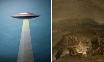 Does the 'Baptism of Christ' painting PROVE aliens were present at the birth of Jesus?