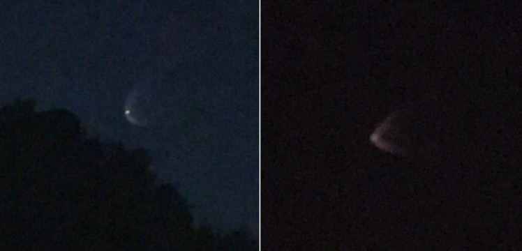 Strange lights spotted in sky over LA as hidden planet is predicted to hit Earth