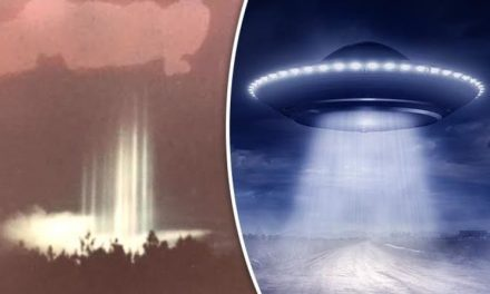 UFO SENSATION: Were lights from alien flying saucer which beamed to Earth caught on film?