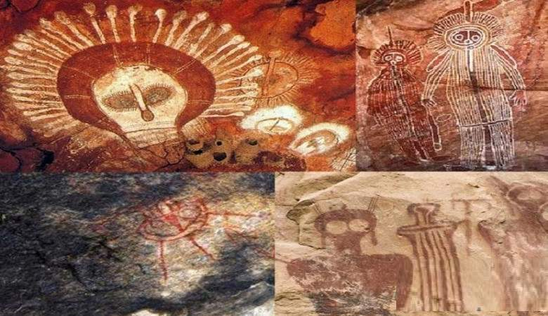 Ancient rock paintings of aliens interested scientists of NASA