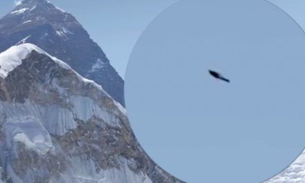 Disc-shaped UFO spotted soaring above Mount Everest in spooky footage