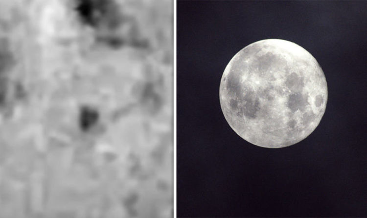 UFO spotted shooting across the moon in SHOCKING footage