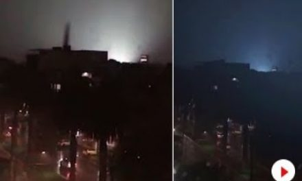 Strange Noise And Eerie Flashing Lights In Sky Blamed On ALIENS