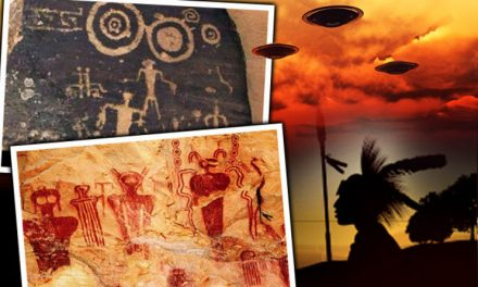 ANCIENT ALIENS? Do ETs and UFOs found in Apache Indian cave paintings prove shock theory?