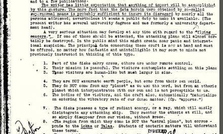 FBI on The Existence of Aliens and UFOs