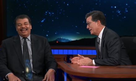 Stephen Colbert invites favorite guest Neil deGrasse Tyson to The Late Show to talk UFOs, blow some minds