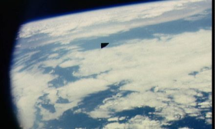 Authentic Image: NASA Astronauts Snaps image of Triangular UFO in Space | Ancient Code