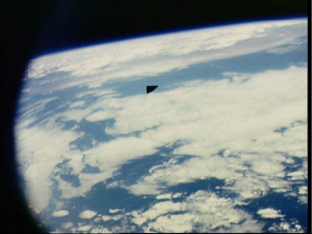 Authentic Image: NASA Astronauts Snaps image of Triangular UFO in Space