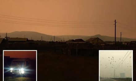 Mystery as sky turns black in the middle of DAY in remote Russian towns with locals blaming secret weapons test, aliens or the DEVIL