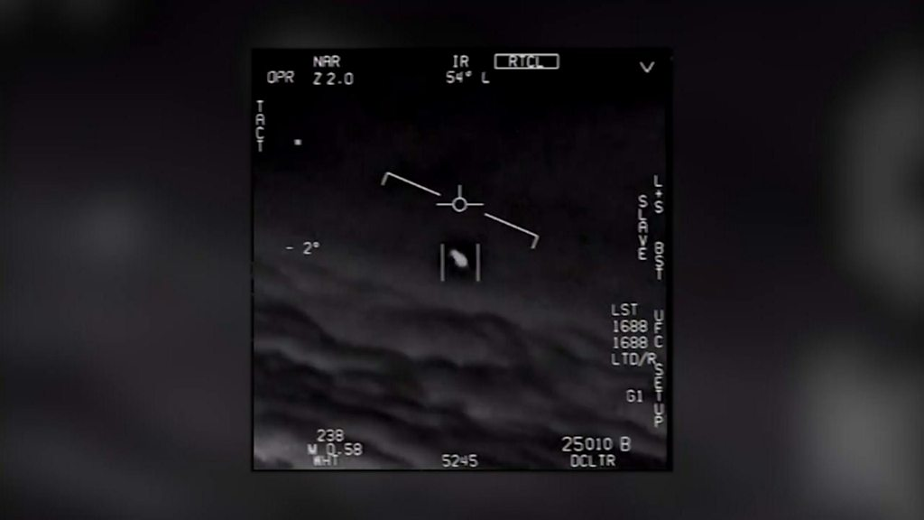 UFO spotted by US fighter jet pilots, new footage reveals