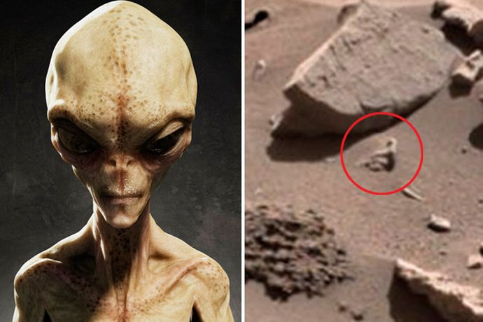 Proof of Aliens on Mars? NASA Image Shows 'Human-Like Creature', 'Spoon' on Red Planet