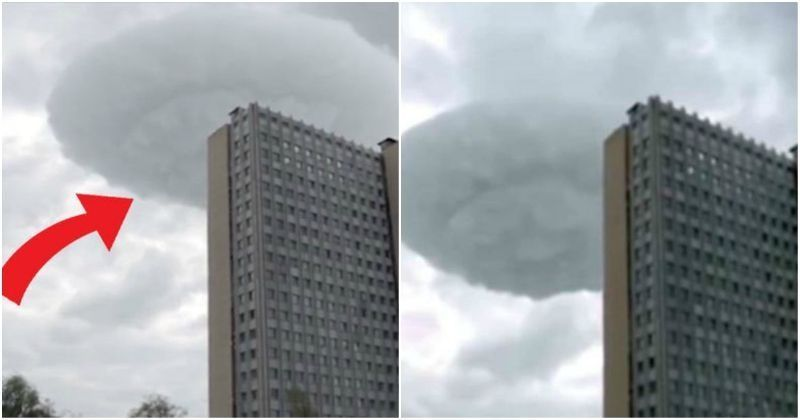 Bizarre UFO Cloud Looms Over Moscow Skies, Scares People To The Point Of Madness