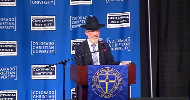 """Rabbi Compares Gay Couples To """"Space Aliens"""" At Hate Group's Rally For Anti-LGBT Colorado Baker [VIDEO]"""