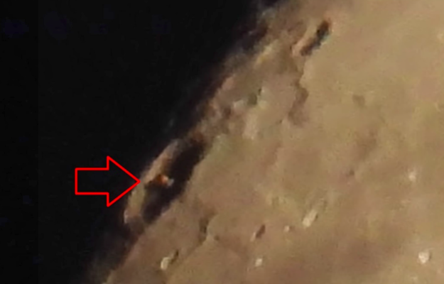 "UFO Hunter Spots Odd ""Alien Structure"" In The Middle Of A Lunar Crater 