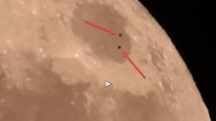 UFO flotilla filmed during Supermoon could prove Aliens are on the moon   Ancient Code