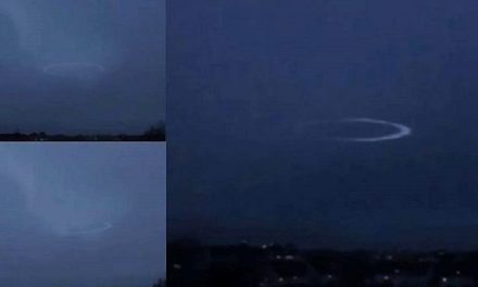 Watch How A Lightning Strike Temporarily Disables This UFO's Cloaking Shield