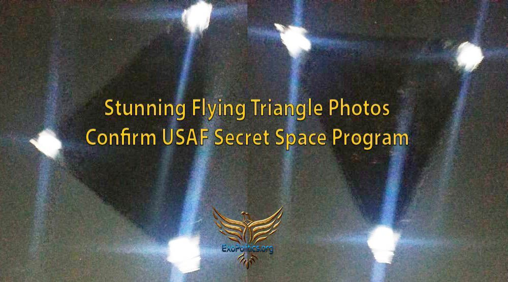 Triangle UFO Images Captured in Orlando Sparks USAF Secret Space Program Debate – Exo News