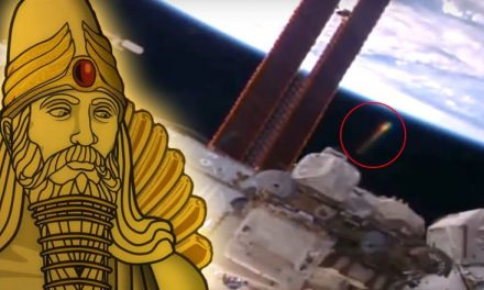 Anunnaki Golden UFO Filmed Within Spitting Distance of the ISS