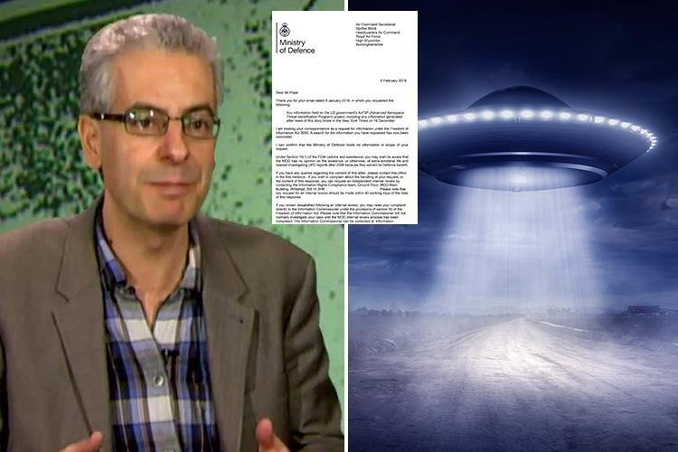 Britain is LYING about having no knowledge of America's top secret 'real life X-Files' alien project, ex MoD UFO expert claims