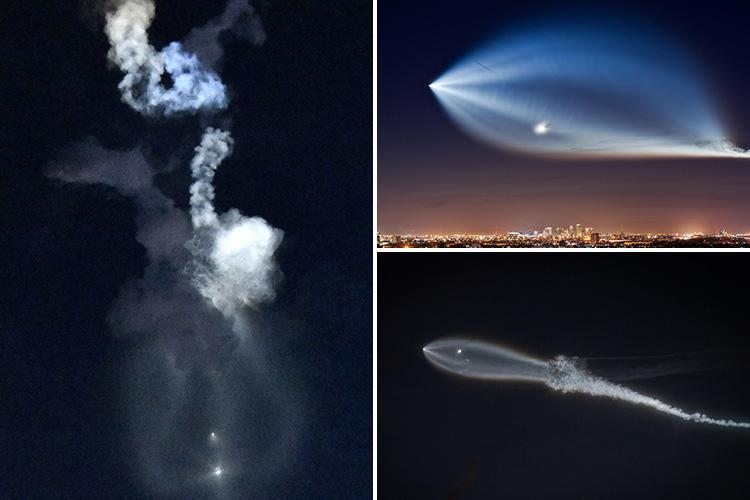 Incredible 'UFO' spotted streaking across Los Angeles sky brings Christmas traffic to a standstill and a flurry of 999 calls