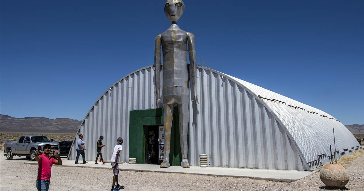 'Here we go again': Communities near Area 51 brace for influx of UFO tourists