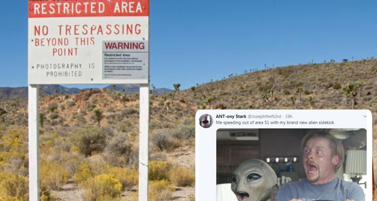 Storm Area 51 event on Facebook sees nearly 500,000 people plot to raid US military base 'to see aliens hidden there' saying 'they can't stop us all'