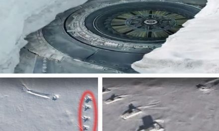 The Antarctic UFO Crash site now guarded by Tanks