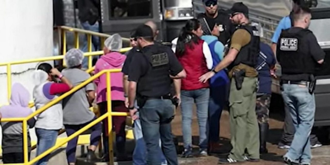 ICE arrests 680 'removable aliens' in raids on Mississippi processing plants