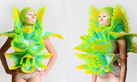 leeroy new turns old plastic into sculptural armour for 'aliens of manila' cyber-site series