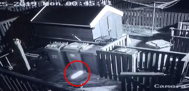 Scot convinced he spotted UFO whizzing through his garden in Paisley on CCTV