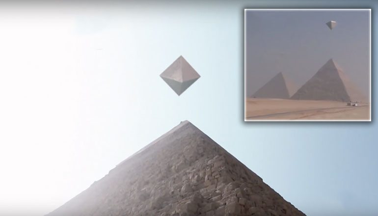 Video Of Metallic UFOs Over Giza Pyramids Goes Viral But It's CGI