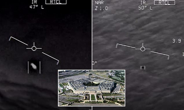 Navy confirms that three spectacular videos appearing to show UFOs ARE genuine | Daily Mail Online