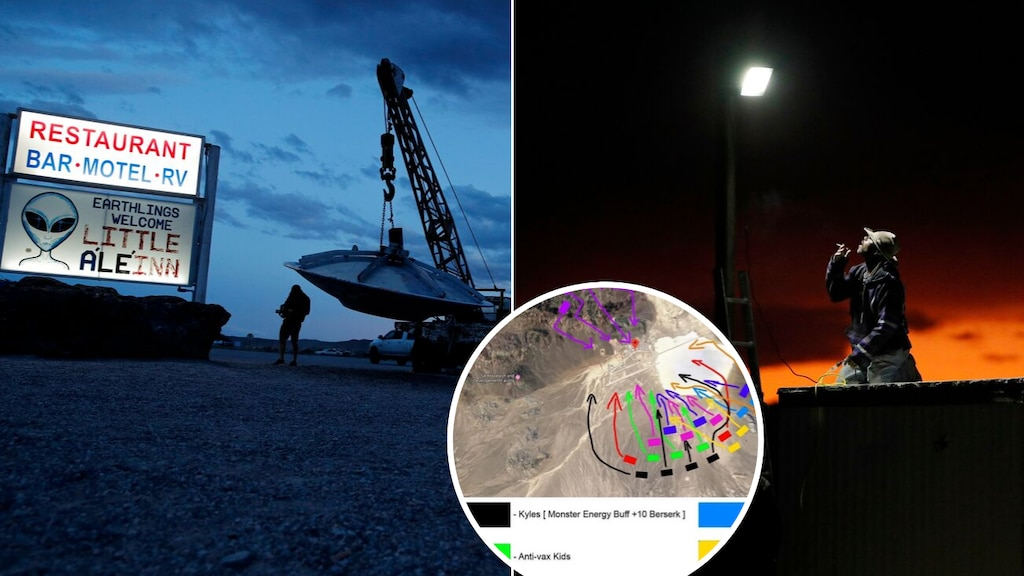 Area 51 raids: Alien hunters head to Nevada military base to 'see them aliens' after viral Facebook event | 7NEWS.com.au