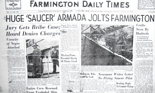 'UFO armada' reportedly filled skies above Farmington in 1950