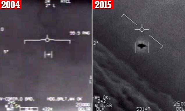 Pentagon declassifies and officially releases three UFO videos | Daily Mail Online