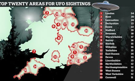 Britain's UFO hotspots revealed: Official RAF documents show locations of 626 UK 'sightings' | Daily Mail Online