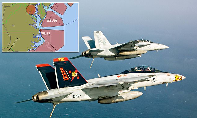 Navy fighter jets intercepted eight UFOs and even locked on to one with air-to-air missiles | Daily Mail Online