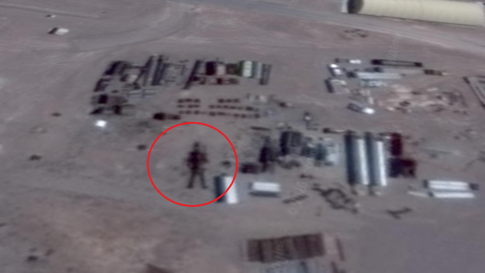 UFO hunter claims to have discovered '16-meter tall alien robot' in Area 51 Google Earth image