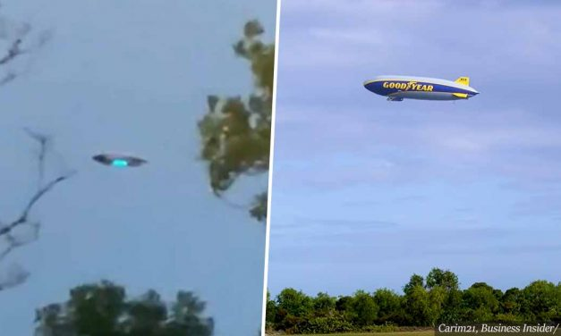 """New Jersey UFO sighting"" – turns out to be just a Goodyear blimp"