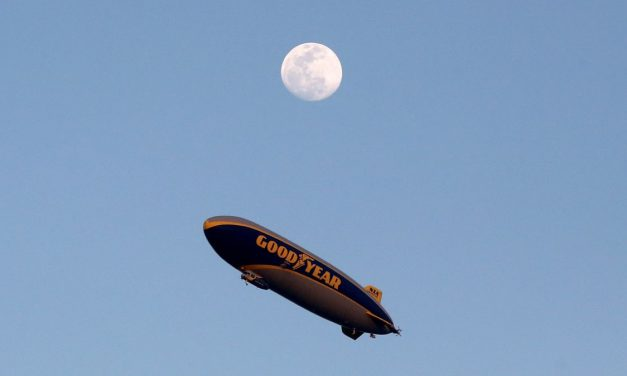 Traffic In New Jersey Stops For UFO Sighting, Which Was Actually The Goodyear Blimp