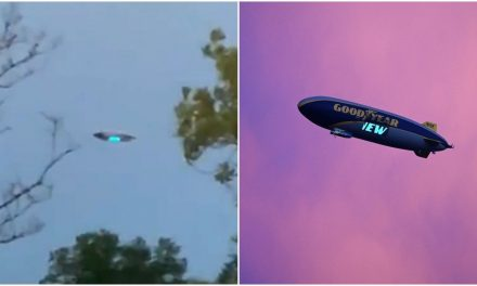 """It's a spaceship!"" New Jersey UFO in viral videos turns out to be your basic Goodyear blimp"