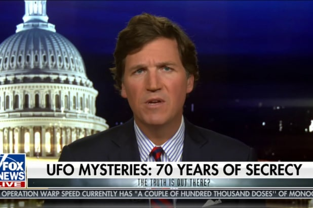 Tucker Carlson: It's 'Outrageous' the Government Is Still Hiding UFO Evidence (Video)