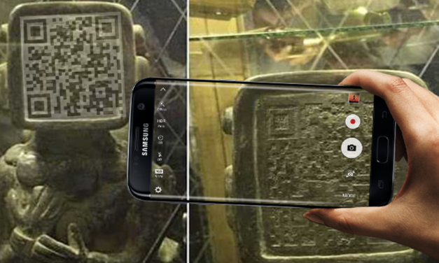 Unusual Ancient Mayan Statue With Flat Face and QR Code – Scanned ? Aliens Warned us? – Alien News