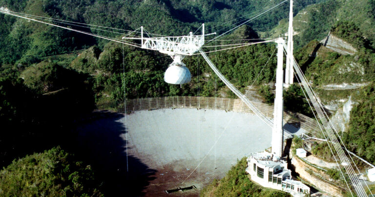 Giant Arecibo SETI Telescope Could Collapse After Mysterious Damage